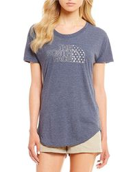 The North Face - Americana Tri-blend Track Tee - Lyst