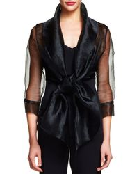 Adrianna Papell - Organza Wrap Jacket - Lyst