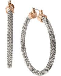 Kenneth Cole - Two-tone Mesh Hoop Earrings - Lyst