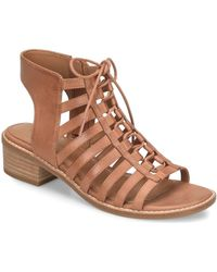 668121d867c2 Lyst - TOPSHOP Giggle Ghillie Pointed Tie-up Heels in Natural