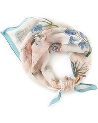 Ralph Lauren - Loretta Floral Silk Square - Lyst