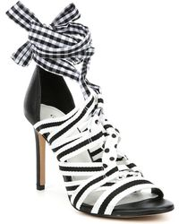 4a067efe7c2 Gianni Bini - Abrianna Gingham Lace Up Dress Sandals - Lyst