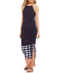 Jessica Simpson - Teslie Border-tie-dye Maxi Dress - Lyst