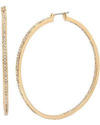Kenneth Cole - Pav Inside-out Hoop Earrings - Lyst