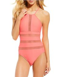 Antonio Melani - Solid Zest Of The Bunch Highneck One Piece Swimsuit - Lyst