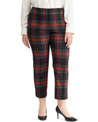 Lauren by Ralph Lauren - Plus Size Tartan Plaid Skinny Crop Pant - Lyst