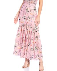 Gianni Bini - Evelyn Mermaid Ruffle Hem Floral Print Skirt - Lyst