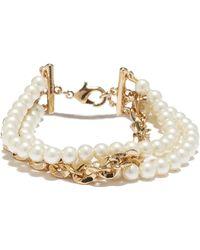 Vince Camuto - Pearl Chain Line Bracelet - Lyst