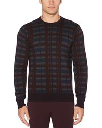Perry Ellis - Big & Tall Multi-color Plaid Sweater - Lyst