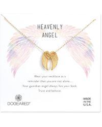 Dogeared - Heavenly Angel Wings Necklace - Lyst