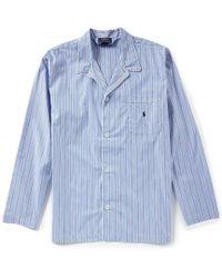 Polo Ralph Lauren - Long Sleeve Woven Striped Pajama Top - Lyst