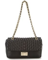 Karl Lagerfeld | Agyness Chevron Diamond-quilted Demi Shoulder Bag | Lyst
