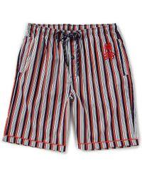 Psycho Bunny - Woven Striped Pajama Shorts - Lyst