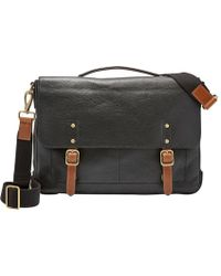 Fossil - Defender Leather Laptop Briefcase - Lyst