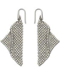 Swarovski - Fit Silver Shade Mesh Statement Earrings - Lyst