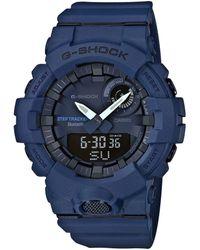 G-Shock - Blue Mid Size Ana Digi Watch - Lyst