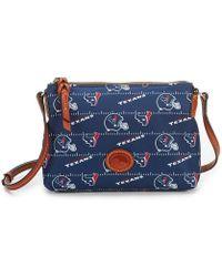 Dooney & Bourke Nfl Houston Texans Cross-body Bag - Blue