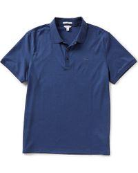 Calvin Klein   Short-sleeve Liquid Polo Shirt   Lyst