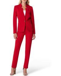 16ecbebc0c9 Tahari - Petite Size Star-neck One-button Front Jacket 2-piece Pant