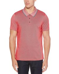 Perry Ellis - Big & Tall Diagonal Jacquard Short-sleeve Polo Shirt - Lyst