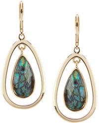 Anne Klein - Orbital Drop Earrings - Lyst