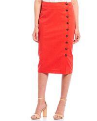 8bd75c082af8 Gianni Bini Rachel Genuine Leather Mini Skirt in Black - Lyst