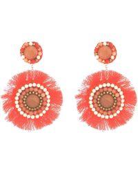 Panacea - Coral Statement Earrings - Lyst