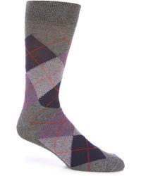 Cremieux Argyle Crew Socks - Gray