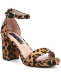 d1e98bcfe1 Steve Madden - Steven By Vino-l Leopard Haircalf Dress Sandals - Lyst