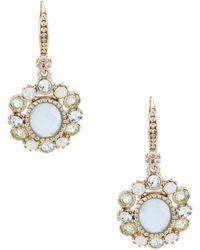 Marchesa - Blue Multi Oval Drop Earrings - Lyst