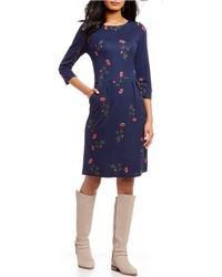 Joules - Beth Floral Print Knit Dress - Lyst