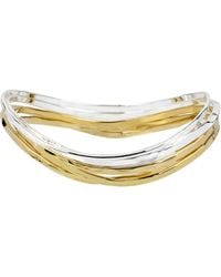 Robert Lee Morris - Two-tone Bangle Bracelet, Set Of 5 - Lyst