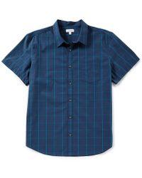 CALVIN KLEIN 205W39NYC - Grid Plaid Short-sleeve Woven Shirt - Lyst