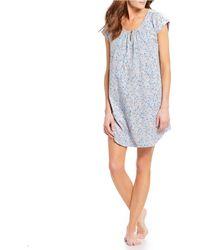 Karen Neuburger - Ditsy Floral-print Knit Sleepshirt - Lyst