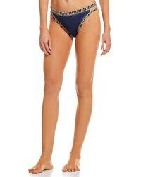 Gianni Bini - Fan Fav Stitches Cut-out Swimsuit Bikini Bottom - Lyst