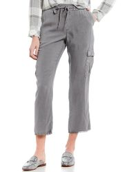 Chelsea & Violet Drawstring Cargo Ankle Pant - Gray