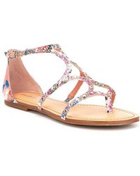 Gianni Bini - Xephy Floral Fabric Jeweled Sandals - Lyst