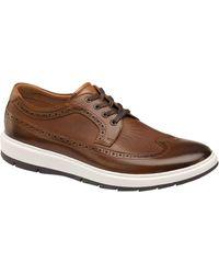 Johnston & Murphy Men's Elliston Wingtip Leather Oxford - Brown