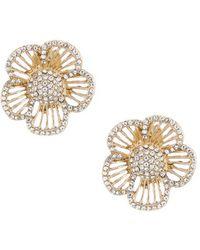 Belle By Badgley Mischka - Floral Glitz Earrings - Lyst