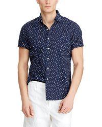 d4cf12ccf03c9 Polo Ralph Lauren - Big   Tall Flag Print Seersucker Short-sleeve Woven  Shirt -