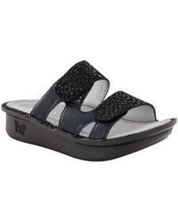 Camille Leather Double Banded Slide On Sandals 636l5PM98G
