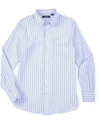 Cremieux - Stripe Performance Long-sleeve Woven Shirt - Lyst