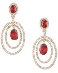 Anne Klein - Stone Orbital Clip Earrings - Lyst