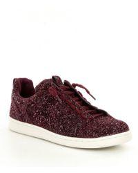 Gianni Bini Zoric Glitter Sneakers - Red