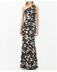 Nicole Miller - One Shoulder Floral Gown - Lyst