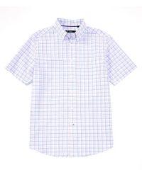 Cremieux - Space Dye Plaid Short-sleeve Woven Shirt - Lyst