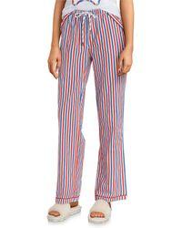 Psycho Bunny Striped Print Woven Sleep Pants - Multicolour