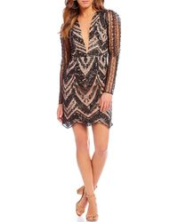 Dress the Population - Jamie 3d Lace Sheath Dress - Lyst