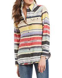 Tasha Polizzi - Colt 44 Serape Mixed Stripe Button Front Shirt - Lyst
