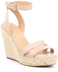 Gianni Bini Keeralina Leather Espadrille Rope Wedges - Multicolor